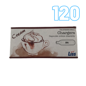 120 Cream Chargers – Liss