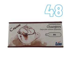 48 Cream Chargers – Liss