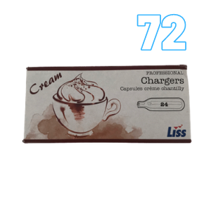 72 Cream Chargers – Liss